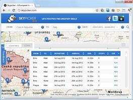 Server Skypicker.com vám zprostředkuje cesty po Evropě od pár stokorun