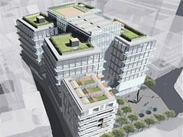 Nový komplex – roh ulic Vladislavova a Purkyňova