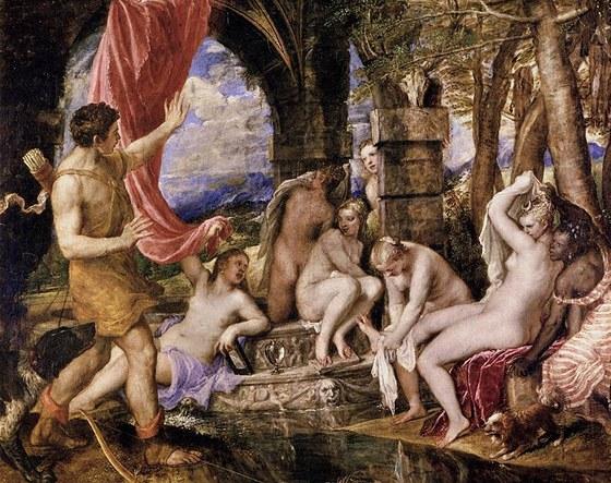 Tizian: Diana a Akteón