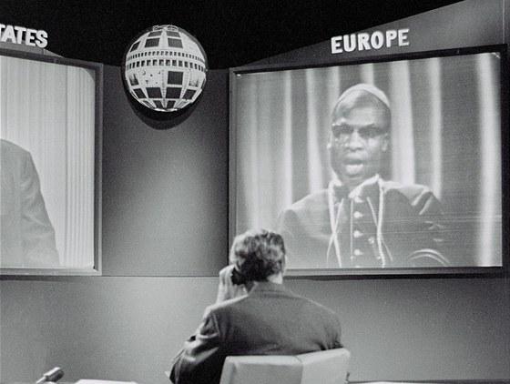 Přímý přenos televizního vysílání mezi Evropou a USA