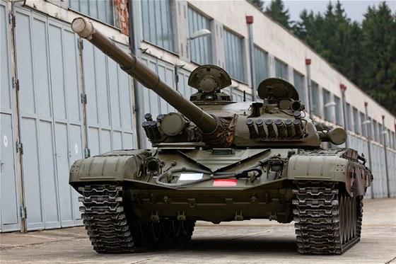 Posádka v Ratíškovicích na Jihlavsku skladuje několik desítek tanků T-72, které