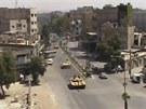 Tanky syrsk� arm�dy v ulic�ch Dama�ku (17. �ervence 2012)