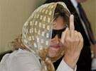 Barbora Kupková se u soudu maskovala šátkem a černými brýlemi.
