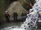 Canyoning u m�ste�ka Claut na severu It�lie