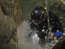 Canyoning za m�ste�kem Claut na severu It�lie