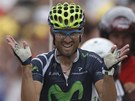 panlsk cyklista Alejandro Valverde ovldl 17. etapu Tour de France.