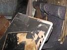 Vnitřek rychlíkového vagonu po požáru v Bohumíně. (19. července 2012)