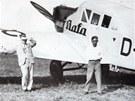 S letadlem Junkers Tomáš Baťa létal pravidelně. Ovšem jeden let se mu stal