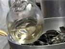 Škeble zalijte bílým vínem.