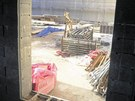 Pokračující stavební práce na termálních lázních v Chrastavě