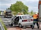 St�et nep�e�il �idi� osobn�ho auta, silnice byla hodinu a p�l zcela uzav�ena.