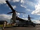 V britském Farnborough vrcholí aerosalon. Na snímku  MV-22 Osprey.