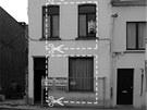 Podoba domu před přestavbou s naznačeným záměrem změny.