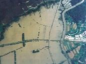 Povodně u Veselí nad Moravou v červenci 1997