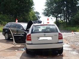 Po v�n� dopravn� nehod� na silnici ��slo 159 mezi obcemi B�eznice a T�n nad