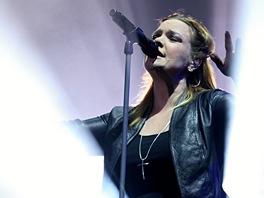 Anette Olzonová ze skupiny Nightwish na festivalu Masters of Rock 2012