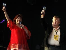 Ředitelka festivalu Zlata Holušová a šéf Vítkovic Jan Světlík - Colours of