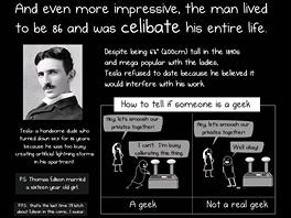 Matthew Inman se nebojí stát si za svým názorem - svůj názor, že Tesla je