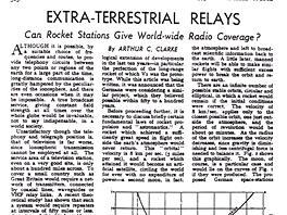 Arthur C. Clarke: Extra-Terestrial Relays (Wireless World, 1945)