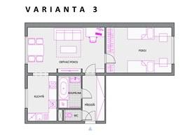 Varianta 3 - je určena pro rodinu s jedním až dvěma dětmi.