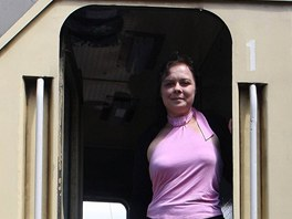 Markéta Búzková je jedinou ženou pracující u Českých drah jako strojvedoucí.