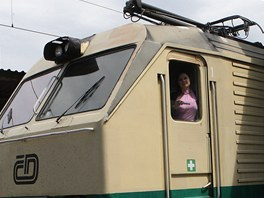 Mark�ta B�zkov� je jedinou �enou pracuj�c� u �esk�ch drah jako strojvedouc�.