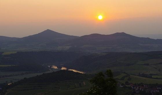Západ slunce z Radobýlu