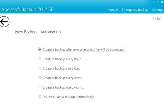 Zálohovací program Abelssoft Backup 2012 nabízí automatické funkce a