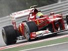 Felipe Massa  b�hem druh�ho tr�ninku na Velkou cenu Ma�arska.