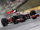 Lewis Hamilton  - nejrychlej�� jezdec p�i druh�m tr�ninku na Velkou cenu