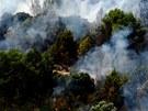 Požár lesa u španělského města Llers (23. července 2012).