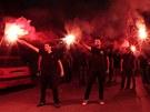 Příznivci řecké strany Zlatý úsvit (17. června 2012)