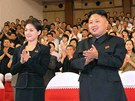 Severokorejsk� v�dce Kim �ong-un se svou man�elkou Ri Sol-�u