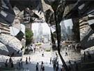Sklen�ná brána. Lidé, kte�í vcházejí do obchodního komplexu v Tokiu, se mohou...