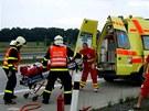 Nehoda Škody Felicie na D1 u Ostravy