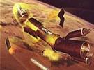 Hoření rakety Polyus (schéma)