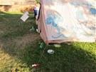 Stany aktivist� hnut� Occupy na Vy�ehrad�