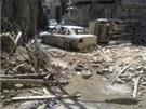 Pohled do jedn� z ulic dama�sk� �tvrti Mid�n, o kterou se v posledn�ch dnech