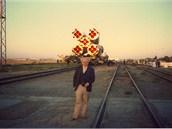 Karel Pacner před raketou na Bajkonuru