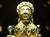 Svat� Foy - hlava sochy pat�� patrn� galorom�nsk�mu bohovi. Dnes je socha