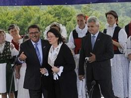 Slavnosti bratrství Čechů a Slováků na kopci Veľká Javorina se zúčastnili i