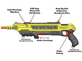 Podrobný popis pušky proti mouchách