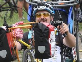 Radomír Krupa měl na začátku dlouhé jízdy dobrou náladu.