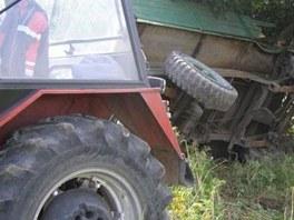 Nehoda na železničním přejezdu u Chvaliny