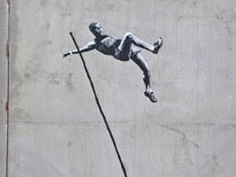 Banksyho graffiti k olympiádě v Londýně 2012