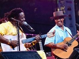 Habib Koité a Eric Bibb na Folkových prázdninách 2012 v Náměšti nad Oslavou