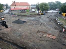 Aktuální pohled na přestavovanou olomouckou křižovatku ulic Dobrovského,