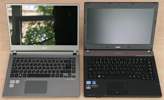 Acer: vlevo ultrabook, vpravo notebook.