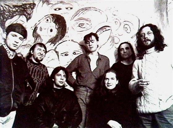 Skupina Půlnoc v roce 1989 (zleva Petr Kumandžas, Josef Janíček, Tomáš Schilla,