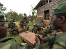 Kon��t� povstalci ze skupiny M23 v opu�t�n�m m�st� nedaleko Gomy ve v�chodn�